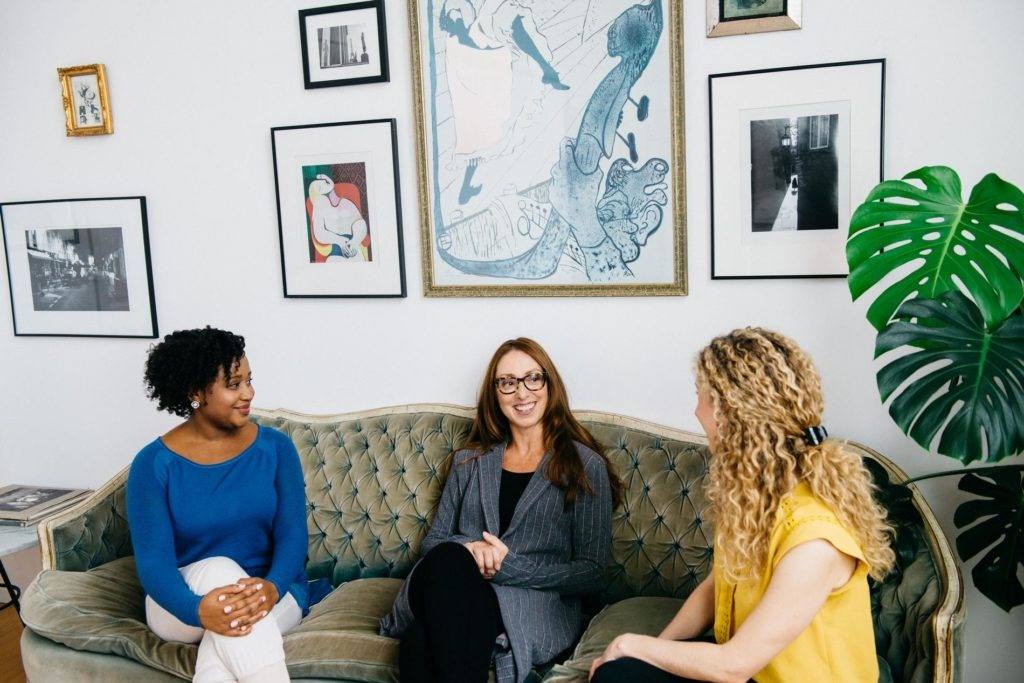 Image of therapists celebrating World Mental Health Day 2020 at BeWELL psychotherapy in Midtown Manhattan
